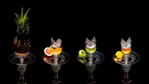 На каких фруктах делают кальян.