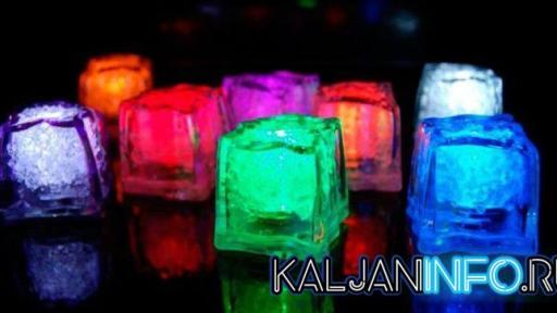 Светящиеся кубики льда.