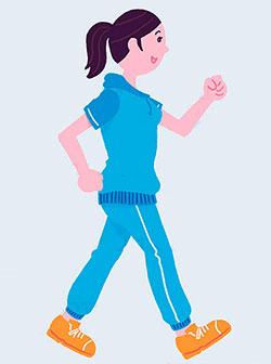 расчет расхода калорий при ходьбе