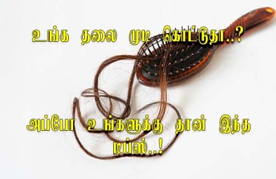 Tips for prevent hair loss in Tamil