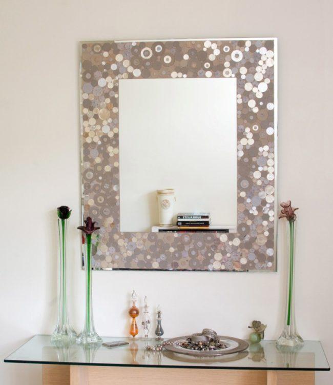 Uvanlig bad speil