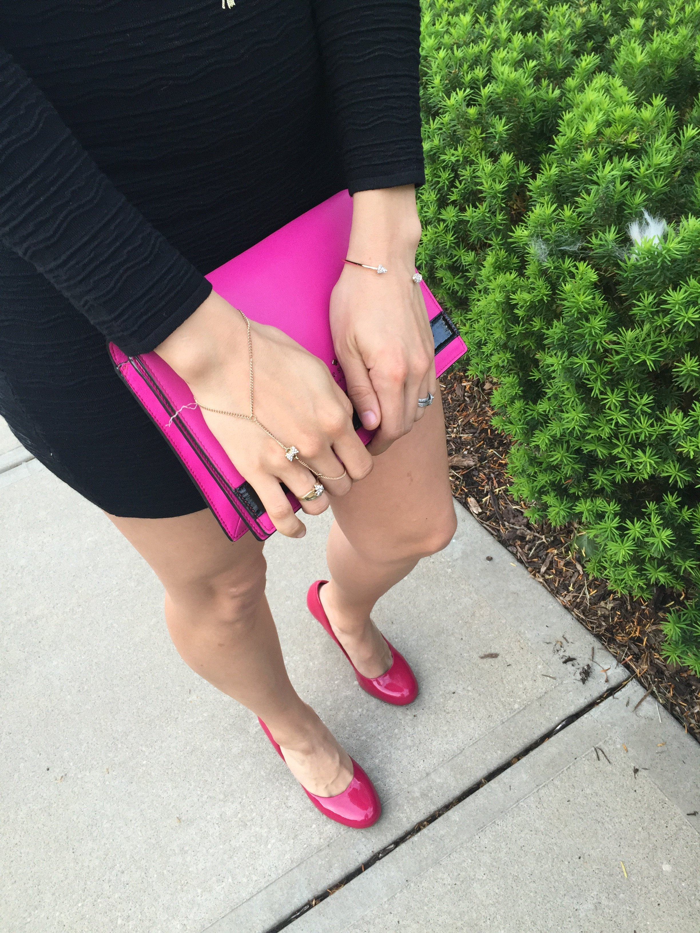 LBD + Hot Pink