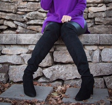 How to style cowl neck | fall and winter style ideas | fall fashion tips | cool weather fashion | styling over the knee boot