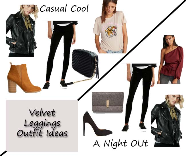 Velvet Leggings Outfit Ideas