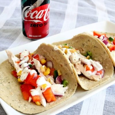 Rotisserie Chicken Tacos with Corn Salsa