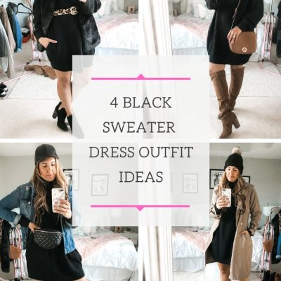 What To Wear Wednesday: 4 Ways To Style A Black Sweater Dress
