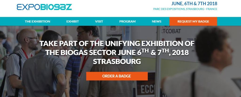 KALLISTONE is present on EXPOBIOGAZ on June 6th and 7th, 2018 in STRASBOURG with OMNERGIA!