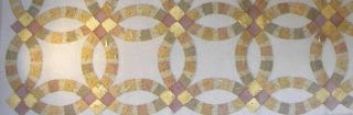 Amish quilt of wedding rings