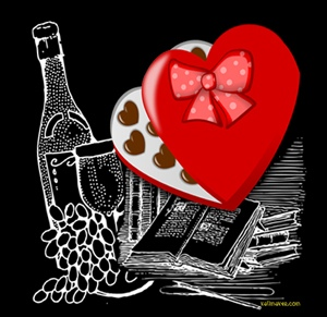 Drawing Wine Chocolate Books