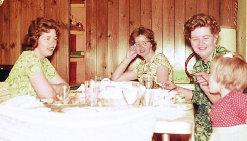 Karin with mom, aunt and grandma