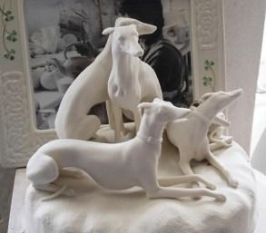 Belleek hounds in progress