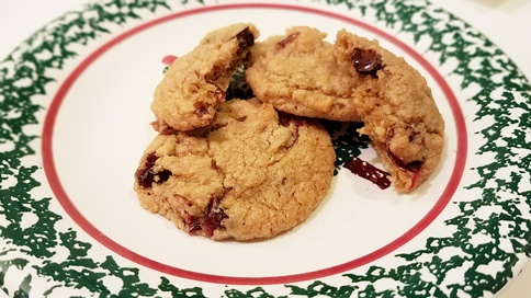 cherry chocolate oatmeal cookies recipe Karin Kallmaker