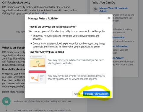 Facebook Off-Facebook Privacy Manage Future Data