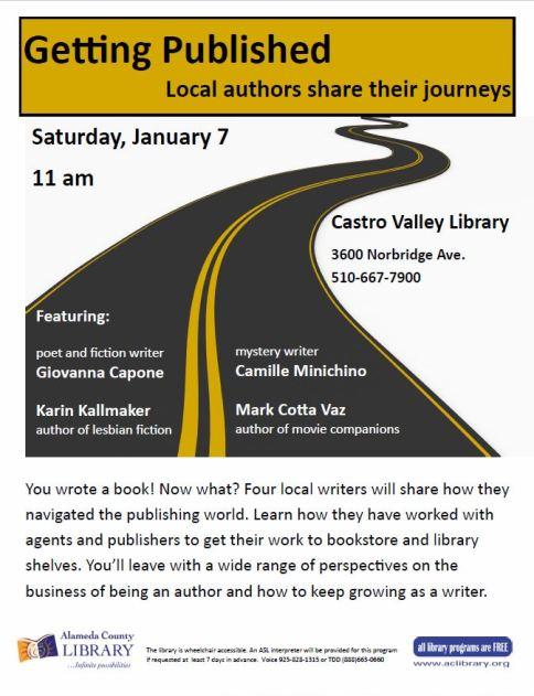 program flyer for CV library program getting published