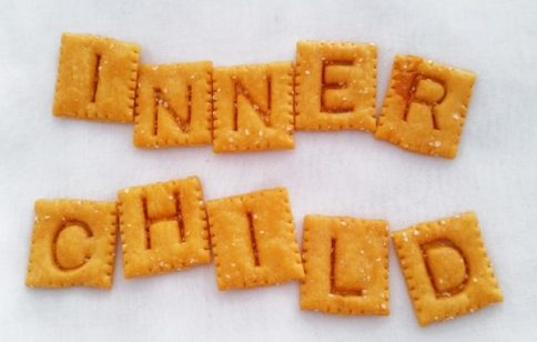 inner child spelled out in alphabet cheezits