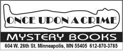 logo once upon a crime books