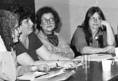 Barnard conference table Joan Nestle Dorothy Allison