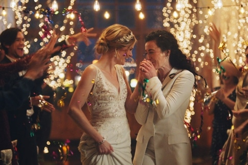 Zola ad featuring lesbians Hallmark banned