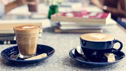 coffee biscotti while women discuss books