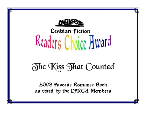 Kiss that Counted LFRCA Award