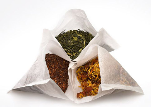 tea bags with loose tea