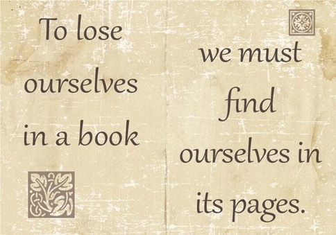 meme to lose ourselves in a book we must find ourselves in its pages by karin kallmaker