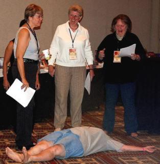 Katherine Forrest, Ellen Hart and Karin Kallmaker attempt acting