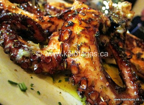 Octopus salad greek style dress
