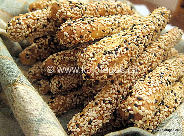 Kritsinia Sesame Covered Bread Sticks Kalofagas