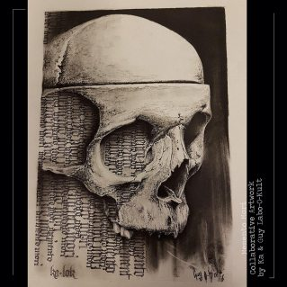 "Calligraphy ""Memento Mori"" – Collaboration with Guy Labo-O-Kult"