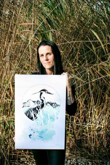 "Ka L-O-K with ""Ardea Cinerea"" – HelvEdition Limited Edition Fine Art Canvas Print"