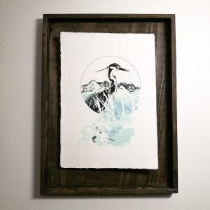 """""""Ardea Cinerea"""" – HelvEdition by Ka L-O-K, Kunstdruck auf Büttenpapier"""