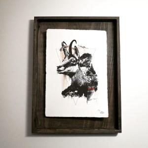 """Rupicapra Rupicapra"" – HelvEdition by Ka L-O-K, Kunstdruck auf Büttenpapier"