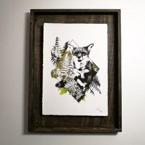"""Vulpes Vulpes"" – HelvEdition by Ka L-O-K, Kunstdruck auf Büttenpapier"