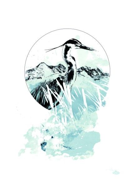 """""""Ardea Cinerea"""" (The Heron) – HelvEdition by Ka L-O-K"""