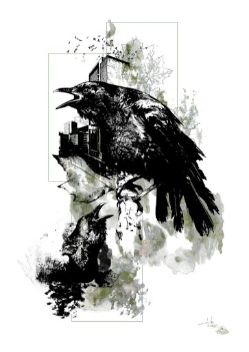 """Corvus Corvus"" (Krähen) – HelvEdition by Ka L-O-K"