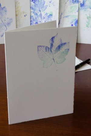 Folia Mystica - Manueller Druck auf Doppelkarte mit Büttenrand