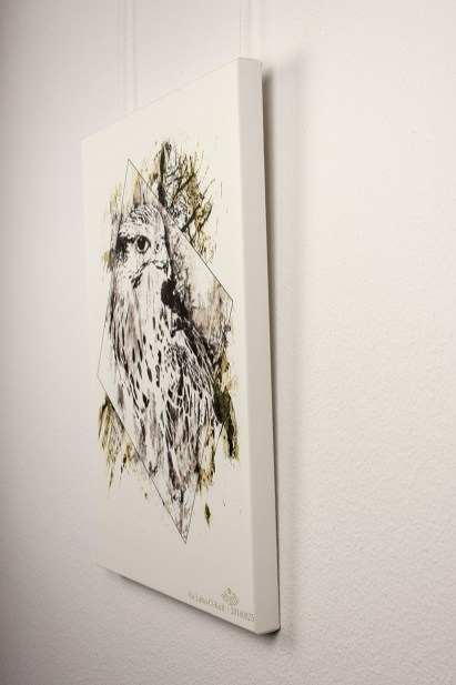 """Der Falke"" | HelvEdition – Falco Cherrug von Ka L-O-K | Limited Edition Leinwanddruck"