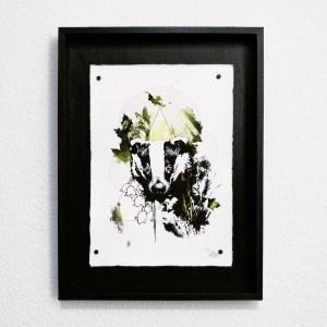 """""""Le Blaireau""""   HelvEdition – Meles Meles par Ka L-O-K   Impression sur papier vergé"""