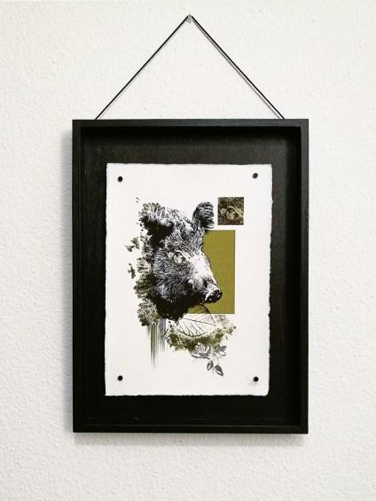 """""""La Laie""""   HelvEdition – Sus Scrofa par Ka L-O-K   Impression sur papier vergé"""