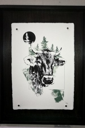 "HelvEdition Illustration ""Bos Taurus"" (The Cow) – by Ka L-O-K 