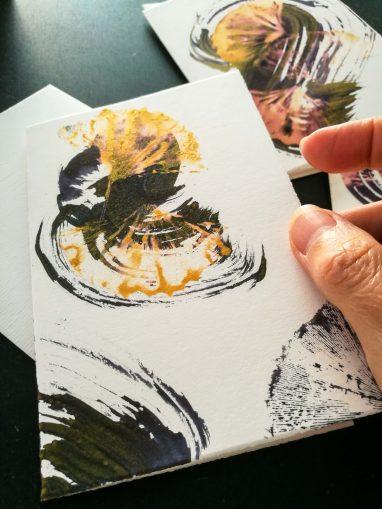 1 carte du Folia Mystica Set de 5 cartes pliantes avec enveloppe