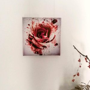 Frontview of Rose Sanguis by Ka L-O-K Somber Ambivalentiae – Fine Art Canvas Print