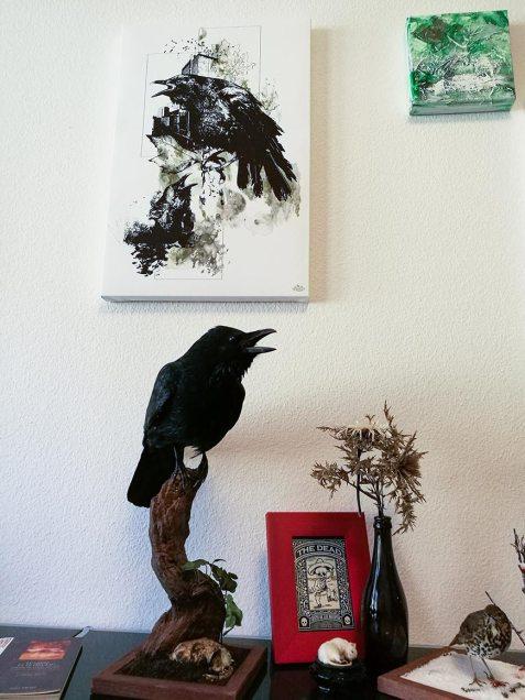 """Corvus Corvus"" – HelvEdition   Leinwanddruck, Limited Edition"