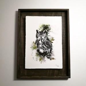 """Bubo Bubo"" – HelvEdition by Ka L-O-K, Fine Art Print"