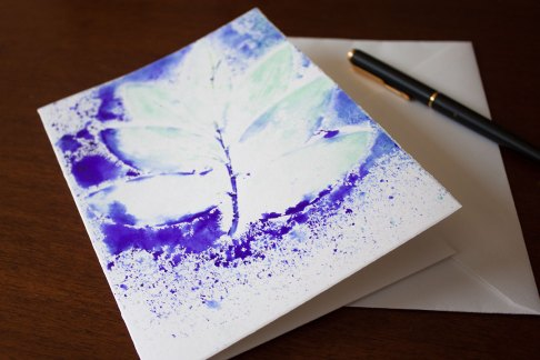 Folia Mystica - Impression manuelle sur carte double avec enveloppe