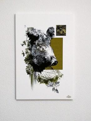 """""""La Laie""""   HelvEdition – Sus Scrofa par Ka L-O-K   Impression sur toile en série limitée"""