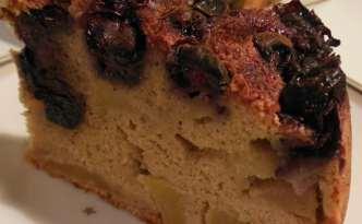 Æble-blåbærkage med Stevia