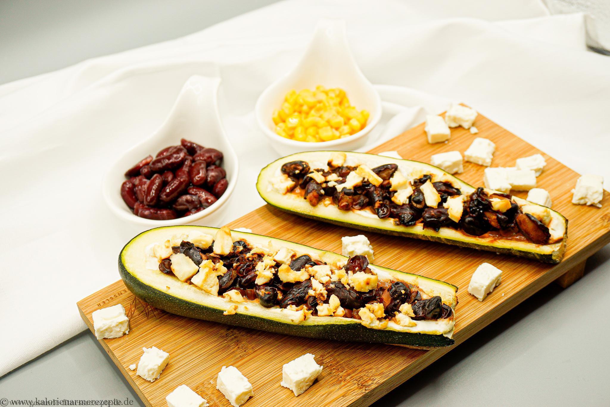 Zucchinischiffchen Mexiko - Geunde Kalorienarme Rezepte