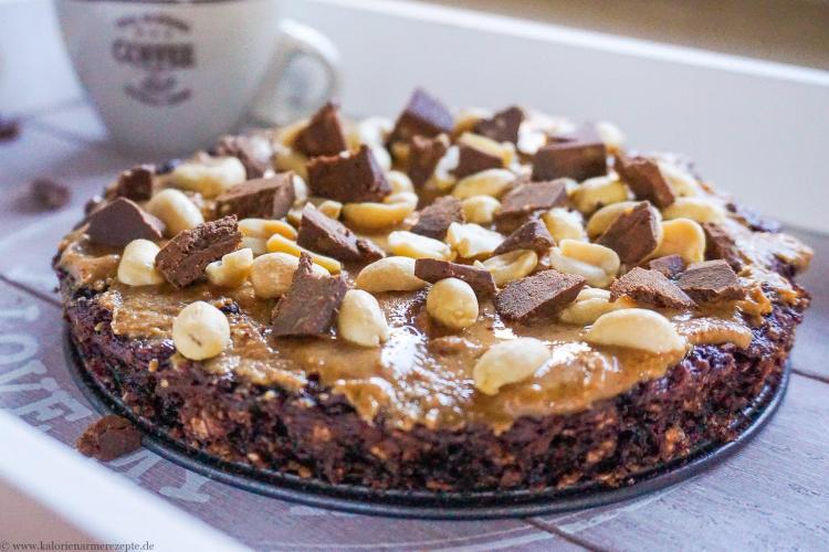 Snickers Kuchen -Gesunde kalorienarme Rezepte